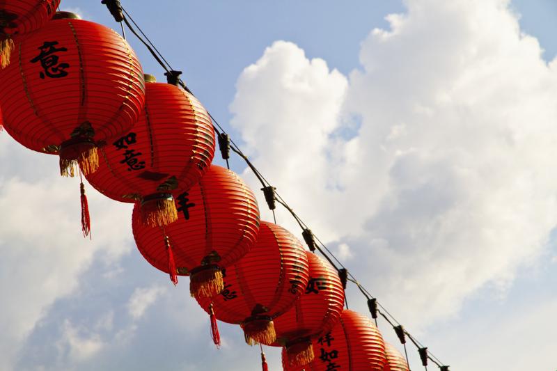 chinese new year lampion, pinang, malaysia