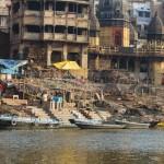 Famous crematory ghats in Varanasi, India