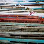 boats at river ganges, Varanasi, India